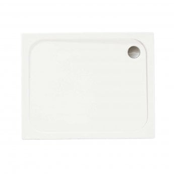 Merlyn MStone Rectangular Shower Tray with Waste 1000mm x 800mm - Stone Resin
