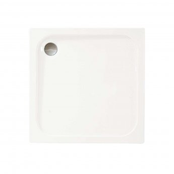 Merlyn MStone Square Shower Tray with Waste 900mm x 900mm - Stone Resin