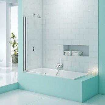 Merlyn SecureSeal Single Panel Bath Screen, 1500mm High X 800mm Wide, 6mm Glass