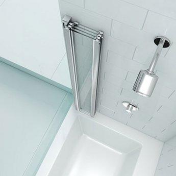 Merlyn SecureSeal 4 Fold Bath Screen, 800mm Wide, 6mm Glass