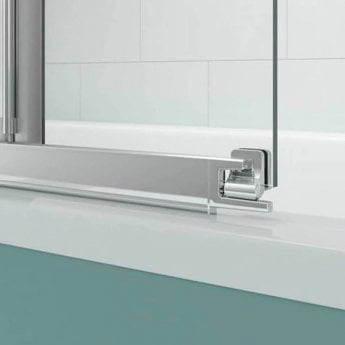 Merlyn SecureSeal 5 Fold Bath Screen, 1000mm Wide, 6mm Glass