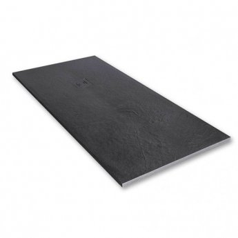 Merlyn TrueStone Rectangular Shower Tray with Waste 1000mm x 800mm - Slate Black