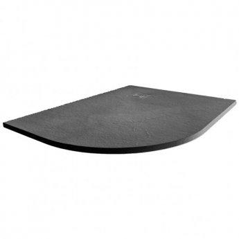 Merlyn TrueStone Offset Quadrant Shower Tray with Waste 1200mm x 900mm Left Handed - Slate Black