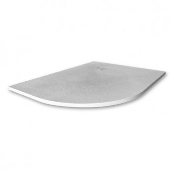 Merlyn TrueStone Offset Quadrant Shower Tray with Waste 1200mm x 900mm Left Handed - White