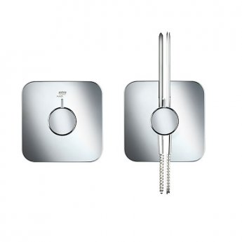 Mira Adept Dual Concealed Mixer Shower with Shower Kit + Fixed Head