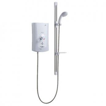 Mira Advance Flex Low Pressure Thermostatic Electric Shower - 9.0kW - White/Chrome