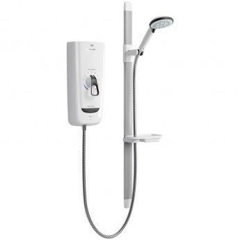 Mira Advance Flex Thermostatic 9.8kW Electric Shower - White/Chrome