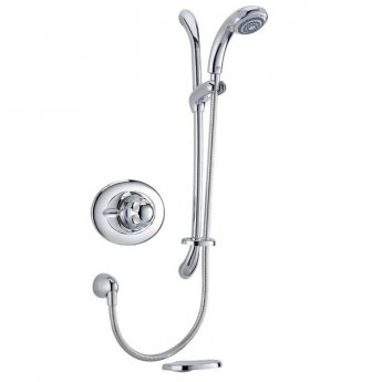 Mira Excel BIV Concealed Thermostatic Shower Mixer with Slide Rail & Handset Kit - Chrome