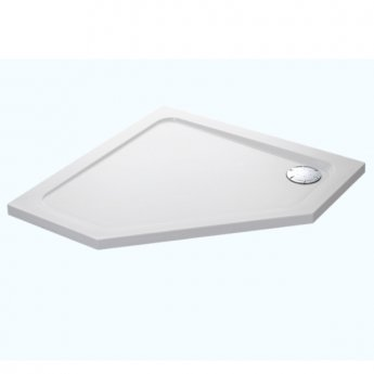 Mira Flight Safe Pentagonal Anti-Slip Shower Tray with Waste 900mm x 900mm - White