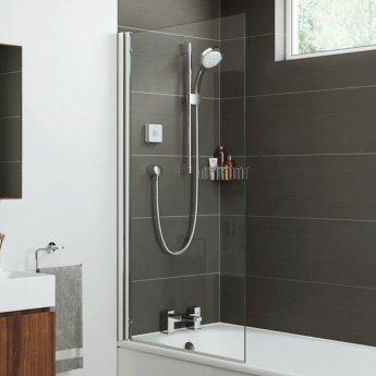 Mira Leap Square Edge Shower Bath Screen 800mm Wide