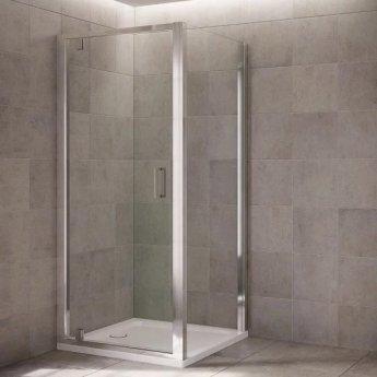 Mira Leap Pivot Shower Door, 1000mm Wide, 6mm Glass