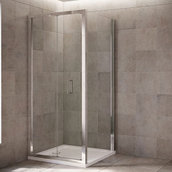 Mira Leap Bi-fold Shower Door, 1000mm Wide, 6mm Glass