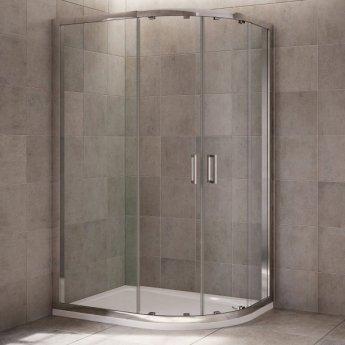 Mira Leap Offset Quadrant Shower Enclosure, 1000mm x 800mm, 6mm Glass