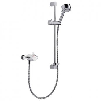 Mira Miniduo Dual Exposed Mixer Shower with Shower Kit