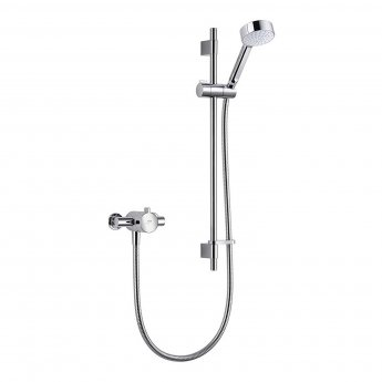 Mira Minilite EV Exposed Mixer Shower Valve with Slide Rail Kit & Handset Kit- Chrome