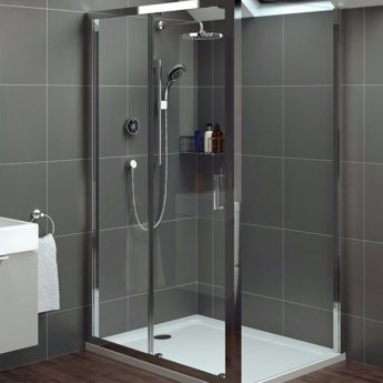 Mira Platinum HP Concealed Digital Shower with Fixed Head and Kit - Black/Chrome