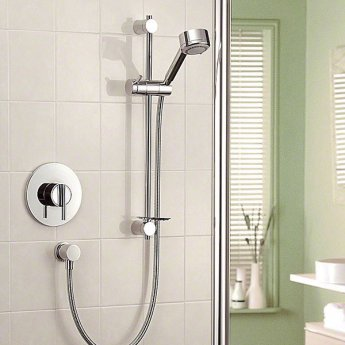Mira Silver Sequential Concealed Mixer Shower with Shower Kit