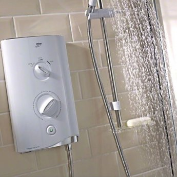 Mira Sport Thermostatic Electric Shower with Kit and Showerhead, 9.0kW, White/Chrome