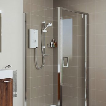 Mira Sport Max 9.8kw Electric Shower with Airboost - White/Chrome