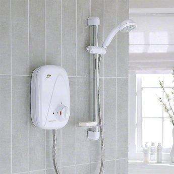 Mira Vigour Thermostatic Power Shower - White/Chrome