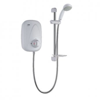 Mira Vigour Manual Power Shower - White/Chrome