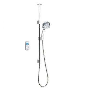Mira Vision Concealed Thermostatic Digital Shower Mixer with Ceiling Fed Pumped - White/Chrome
