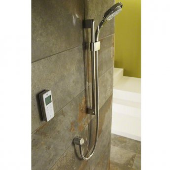 Mira Vision Concealed Thermostatic Digital Shower Mixer with Rear Fed High Pressure - White/Chrome