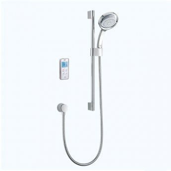 Mira Vision Concealed Thermostatic Digital Shower Mixer with Rear Fed Pumped - White/Chrome