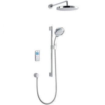 Mira Concealed Thermostatic Digital Shower Mixer with Dual Rear Fed, High Pressure, White/Chrome