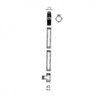 Mistral Complete 3000mm Vertical Flue Kit (15kW - 41KW Models)