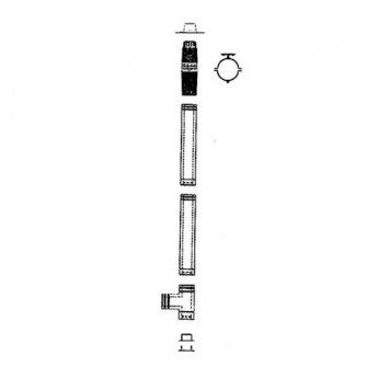 Mistral Complete 3000mm Vertical Flue Kit (41kW - 70KW Models)