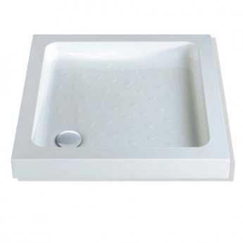 MX Classic Square Shower Tray with Waste 900mm x 900mm Flat Top
