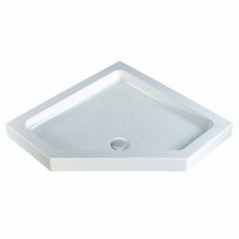 MX Classic Neo Angle Pentagonal Shower Tray with Waste 900mm x 900mm Flat Top