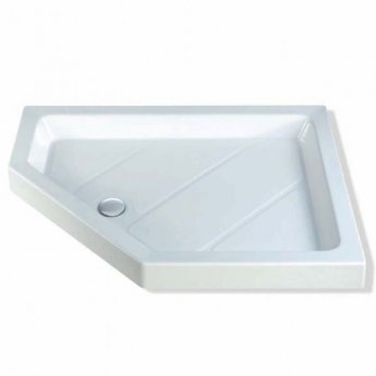 MX Classic Neo Offset Pentagonal Shower Tray with Waste 1200mm x 900mm Left Handed