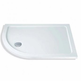 MX Elements Offset Quadrant Shower Tray with Waste 900mm x 760mm Left Handed