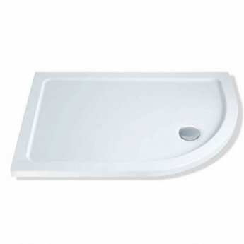 MX DucoStone Offset Quadrant Shower Tray with Waste 1000mm x 800mm Right Handed