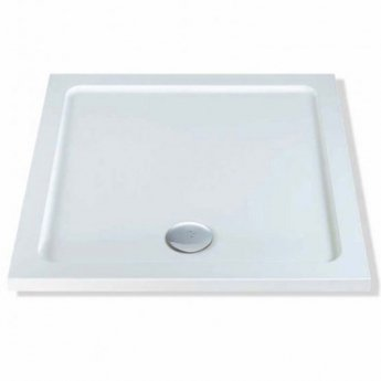 MX DucoStone Square Shower Tray with Waste 800mm x 800mm Flat Top