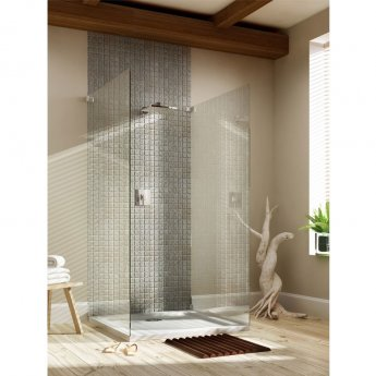 MX Elements Rectangular Shower Tray with Waste 1400mm x 800mm Flat Top