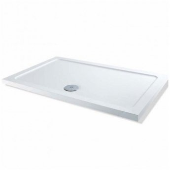 MX Elements Rectangular Shower Tray with Waste 900mm x 760mm Flat Top