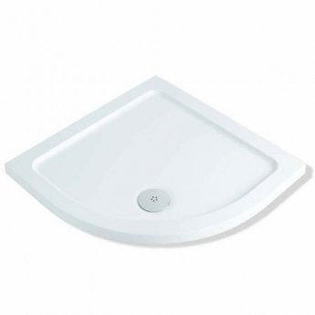 MX Elements Quadrant Shower Tray with Waste 1000mm x 1000mm Flat Top