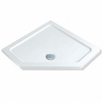 MX Elements Pentagonal Shower Tray with Waste 900mm x 900mm Flat Top