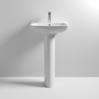 Nuie Ambrose Basin and Full Pedestal 500mm Wide 1 Tap Hole