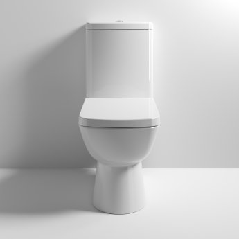 Nuie Ambrose Close Coupled Toilet WC Push Button Cistern - Soft Close Seat