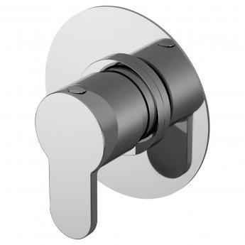 Nuie Arvan Round Concealed Stop Tap Shower Valve - Chrome