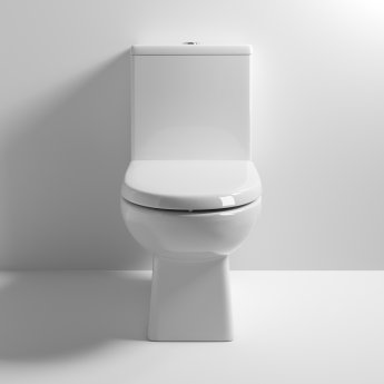 Nuie Asselby Close Coupled Toilet WC Push Button Cistern - Excluding Seat