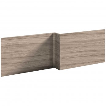 Nuie Athena Square Shower Bath Front Panel 520mm H x 1700mm W - Driftwood