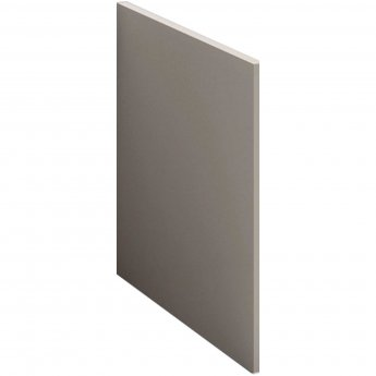 Nuie Athena Square Shower Bath End Panel 520mm H x 700mm W - Stone Grey