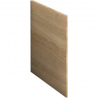 Nuie Athena Square Shower Bath End Panel 520mm H x 700mm W - Natural Oak