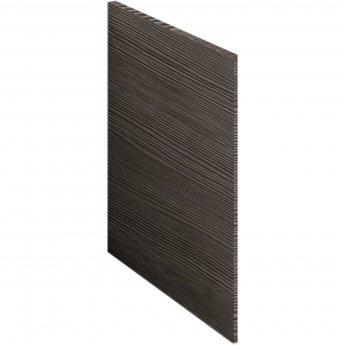 Nuie Athena Square Shower Bath End Panel 520mm H x 700mm W - Brown Grey Avola