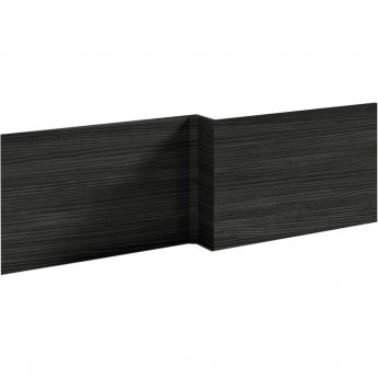 Nuie Athena Square Shower Bath Front Panel 520mm H x 1700mm W - Hacienda Black